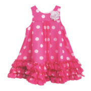 Marmelatta Sleeveless Polka Dot Dress - Toddler Girls 2t-4t