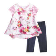 Marmelatta Floral Print Dress and Pants Set - Preschool Girls 4-6x