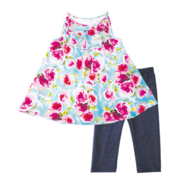 jcpenney.com | Marmelatta Sleeveless Floral Ruffle Dress and Pants Set - Preschool Girls 4-6x