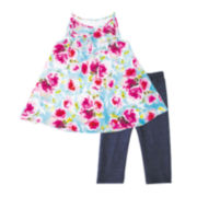 Marmelatta Sleeveless Floral Ruffle Dress and Pants Set - Preschool Girls 4-6x