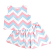 Marmelatta Sleeveless Chevron Top and Skirt Set - Preschool Girls 4-6x