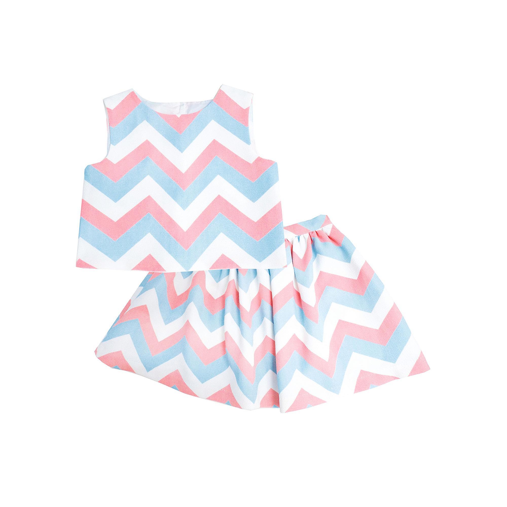 Marmelatta Sleeveless Chevron Top and Skirt Set - Preschool Girls 4-6x plus size,  plus size fashion plus size appare