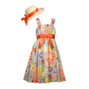 Bonnie Jean® Floral Dress with Hat - Girls 7-16