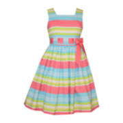 Bonnie Jean® Sleeveless Striped Linen Dress - Girls 7-16 and Plus