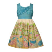 Bonnie Jean® Sleeveless Beach Scene Dress - Girls 7-16