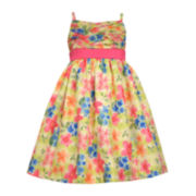 Bonnie Jean® Sleeveless Chiffon Floral Dress - Girls 7-16