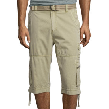 jcpenney.com | Plugg® Defender Relaxed-Fit Lightweight Belted Twill Messenger Cargo Shorts