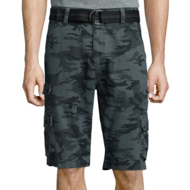 jcpenney.com | Plugg® Highland Relaxed-Fit Stacked Pocket Belted Twill Cargo Shorts