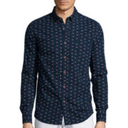 American Heritage Long-Sleeve Fox Printed Woven Shirt