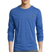 adidas® Long-Sleeve Crewneck Tee