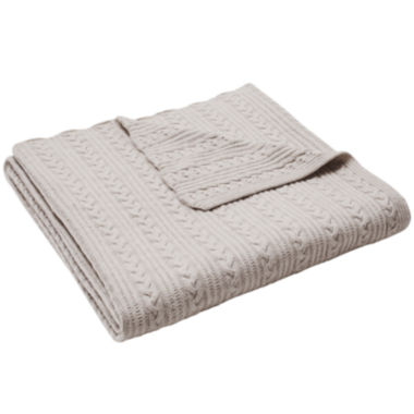 jcpenney.com | Madison Park Cashmere Blend Cable Knit Throw