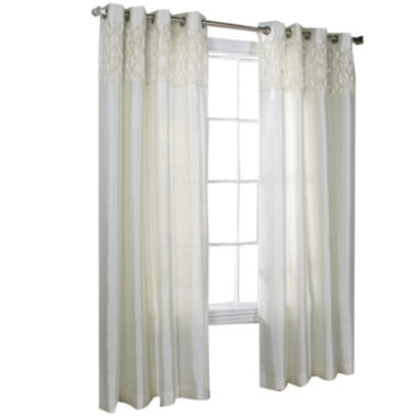 jcpenney.com | Emmanual Faux Silk Grommet-Top Window Panel