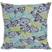 Outdoor Oasis™ Fish Frenzy Outdoor Pillow