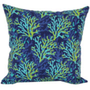 Outdoor Oasis™ Blue Coral Outdoor Pillow