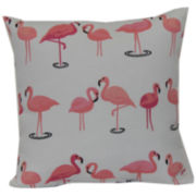 Outdoor Oasis™ Flamingo Flock Outdoor Pillow
