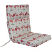 Outdoor Oasis™ Flamingo Flock Outdoor Chair Cushion