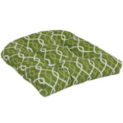 Outdoor Oasis™ Ogee Chain-Link 2-Pack Wicker Outdoor Seat Cushions