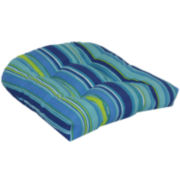 Outdoor Oasis™ Bossa Stripe 2-Pack Wicker Outdoor Seat Cushions