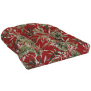 Outdoor Oasis™ Tropical Floral 2-Pack Wicker Outdoor Seat Cushions