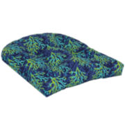 Outdoor Oasis™ Blue Coral 2- Pack Wicker Seat Outdoor Seat Cushion