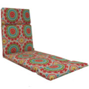 Outdoor Oasis™ Suzani Swirl Chaise Lounge Outdoor Cushion