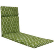 Outdoor Oasis™ Ogee Chain-Link Chaise Lounge Outdoor Cushion