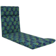 Outdoor Oasis™ Blue Coral Chaise Lounge Outdoor Cushion