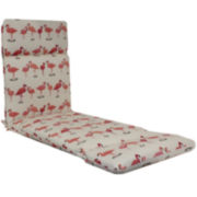 Outdoor Oasis™ Flamingo Flock Chaise Lounge Outdoor Cushion