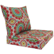 Outdoor Oasis™ Suzani Swirl 2-pc. Deep-Seating Outdoor Cushion Set