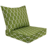 Outdoor Oasis™ Ogee Chain-Link 2-pc. Deep-Seating Outdoor Cushion Set
