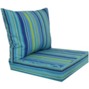 Outdoor Oasis™ Bossa Stripe 2-pc. Deep-Seating Outdoor Cushion Set