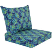 Outdoor Oasis™ Blue Coral 2-pc. Deep-Seating Outdoor Cushion Set