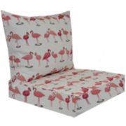 Outdoor Oasis™ Flamingo Flock 2-pc. Deep-Seating Outdoor Cushion Set