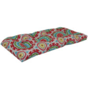 Outdoor Oasis™ Suzani Swirl Wicker Double Outdoor Cushion