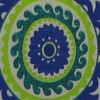 Royal Blue W Green
