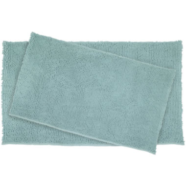 jcpenney.com | Resort Collection Chenille Plush Loop 2-pc. Bath Mat Set