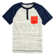 Arizona Short-Sleeve Henley - Boys 8-20 and Husky