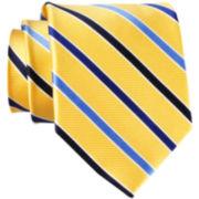 Stafford® Sign Cedric Stripe Silk Tie - Extra Long