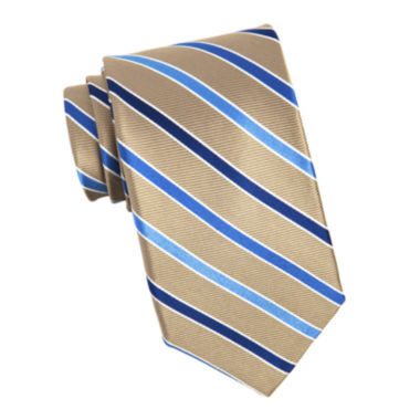 jcpenney.com | Stafford® Sign Cedric Stripe Silk Tie - Extra Long