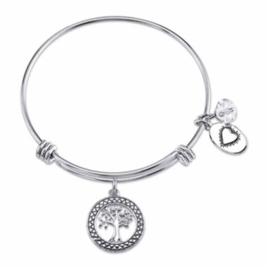 jcpenney.com | Footnotes Too White Stainless Steel Bangle Bracelet