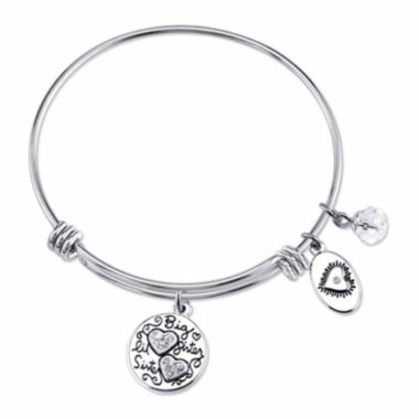 jcpenney.com | Footnotes Too Stainless Steel Crystal Sister Bangle Bracelet