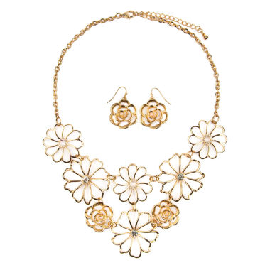 jcpenney.com | Mixit Gold Flower Jewelry Set