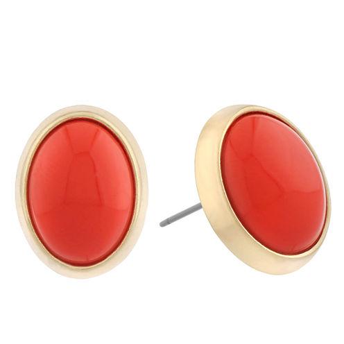 Liz Claiborne Orange Stud Earrings