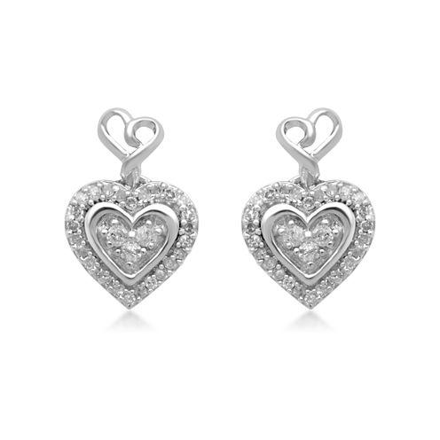 Hallmark Diamonds 1/7 CT. T.W. Round White Diamond Sterling Silver Stud Earrings