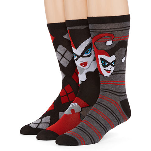 DC Comics® Harley Quinn 3-pk. Crew Socks