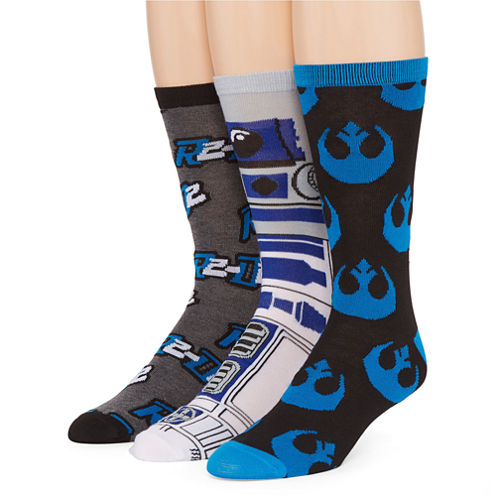 Star Wars® R2-D2 3-pk. Crew Socks