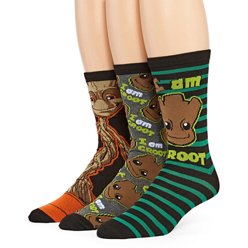 Marvel® Guardians of the Galaxy Groot 3-pk. Crew Socks