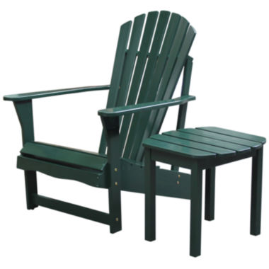 jcpenney.com | 2 Piece Adirondack Chair With Side Table 2-pc. Patio Lounge Set