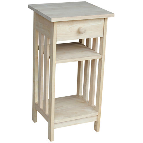 Mission Telephone 1-Drawer Console Table