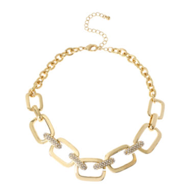 jcpenney.com | Worthington® Crystal-Accent Gold-Tone Rectangle Link Necklace